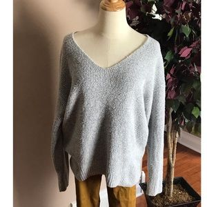 Old Navy Gray V neck Pullover Sweater Sz Large